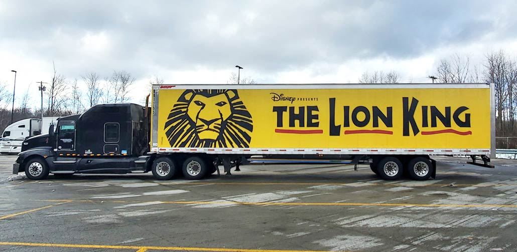 Dark Blue Cab with Disney's The Lion King Trailer