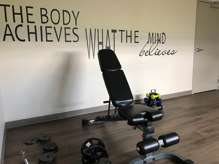 Facility Gym, Workout Bench