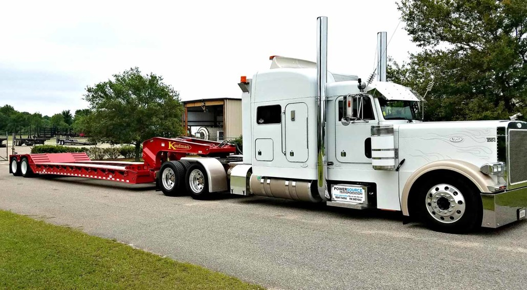 White Tractor and Red Trailer