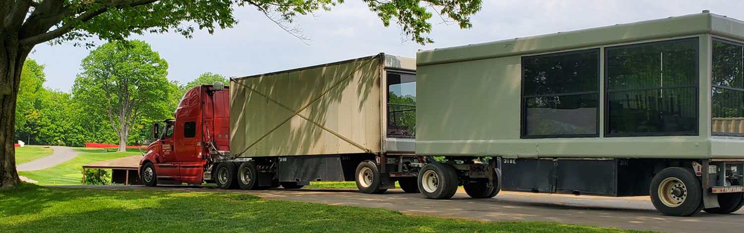 Red Cab and Double Entertainment Trailer, Western Golf Open
