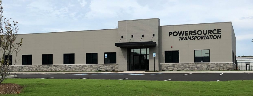 Powersource Transportation, New Building Front Facade
