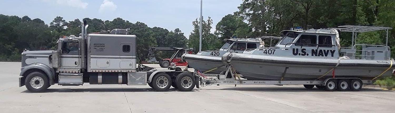 Dark Gray Cab with U.S. Navy Boat Trailer