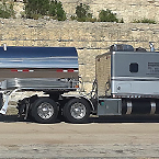 Tank Trailer, Dark Gray Cab and Chrome Trailer