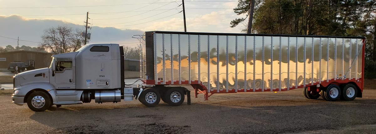 Silver Cab with Aluminum Box Trailer