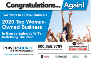 Congratulations Powersource - 2020 Top Woman-Owned Business