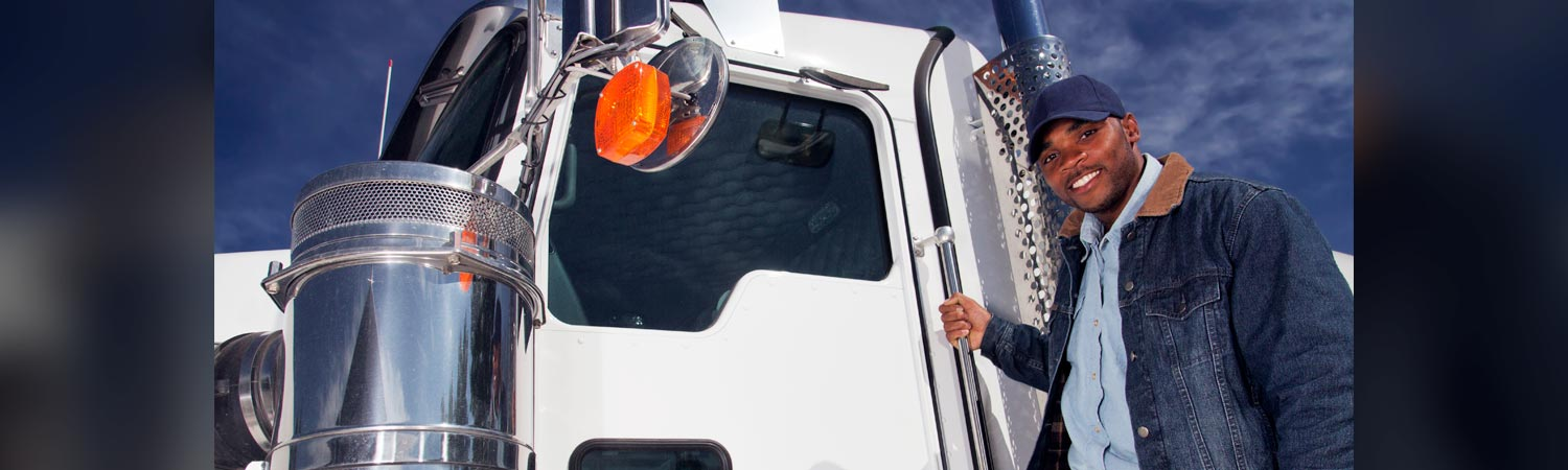 Truck Driver with White Truck